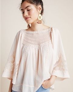 Anthropologie Valentia Peasant Blouse